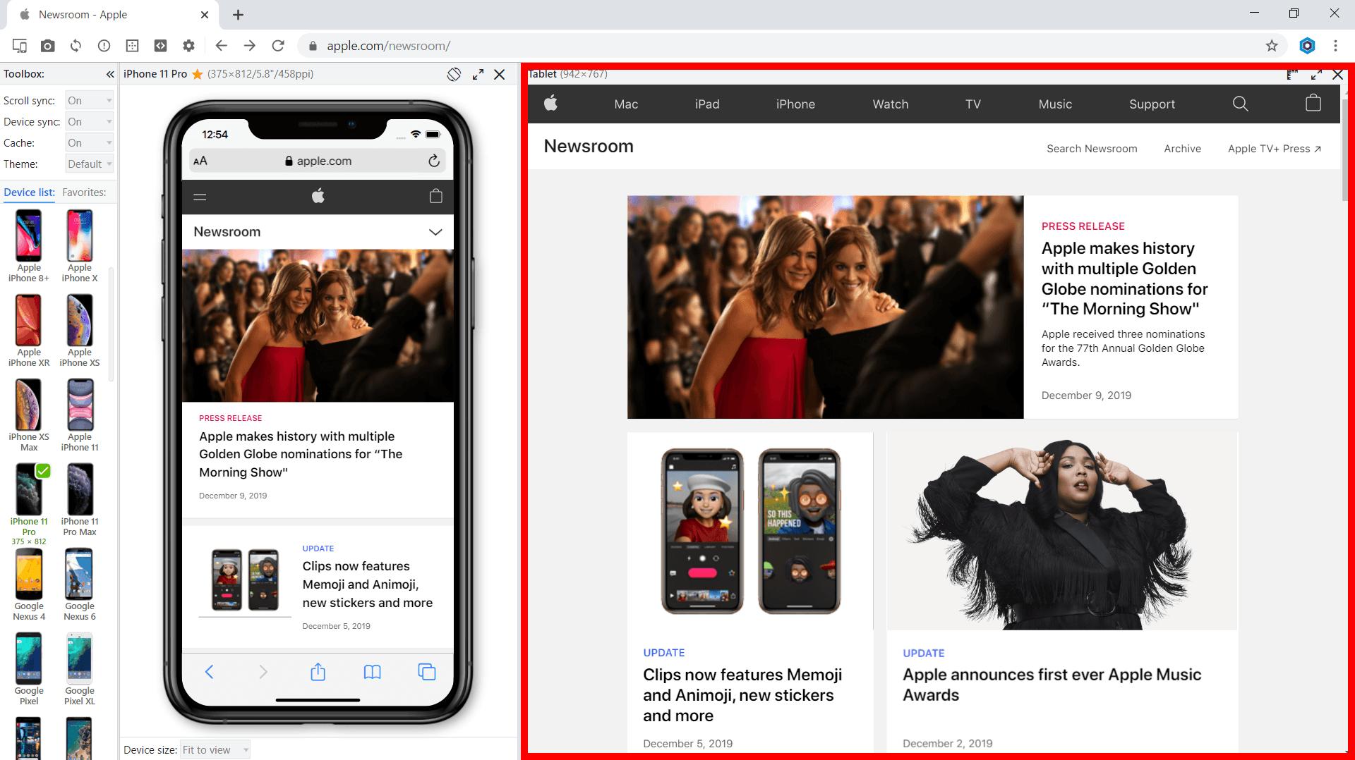 Blisk desktop content
