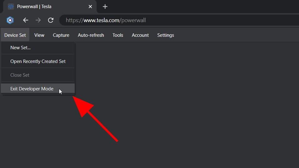 Exit Developer Mode